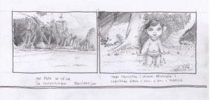 storyboard dessin crayon vaiana